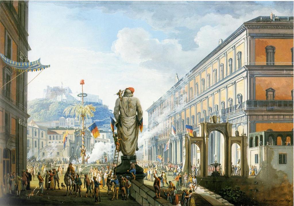 Veduta di Santa Lucia,, Napoli 1799