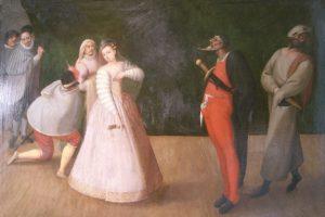 Commedia dell'arte, compagnia dei Gelosi.