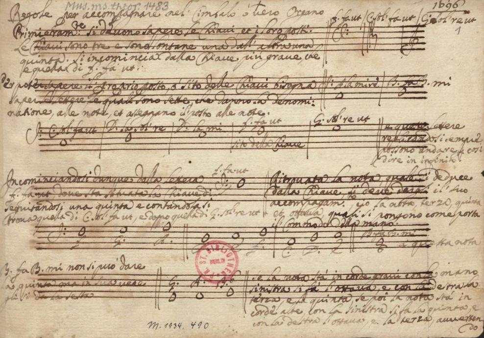 Regole per accompagnare nel Cimbalo overo Organo